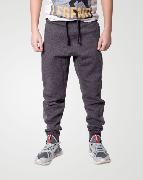 Image 1 of Boys Contrast Ankle Trouser color Charcoal and sizes 7-8, 9-10, 11-12, 13 from Noroze