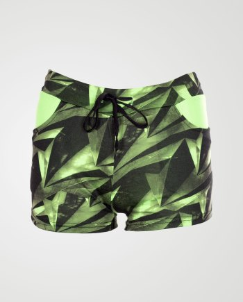 Image 1 of Geo Pattern Hotpants Mint From Noroze