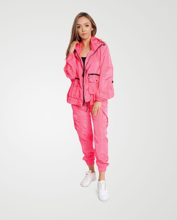 Image 1 of Womens Loose Light Raincoat Waterproof color Neon-Pink and Sizes S/M, L/XL from Noroze