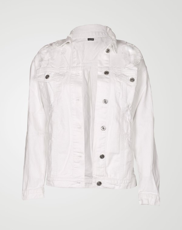 Image 1 of Womens Oversized Denim Jacket color White and sizes 8,10,12,14,16 from Noroze