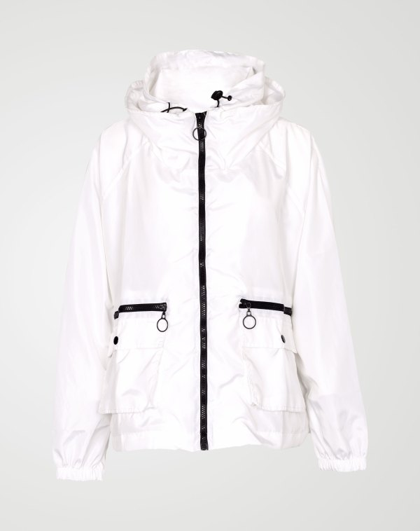 Image 1 of Womens Loose Light Waterproof Raincoat color White and sizes S/M, L/XL from Noroze