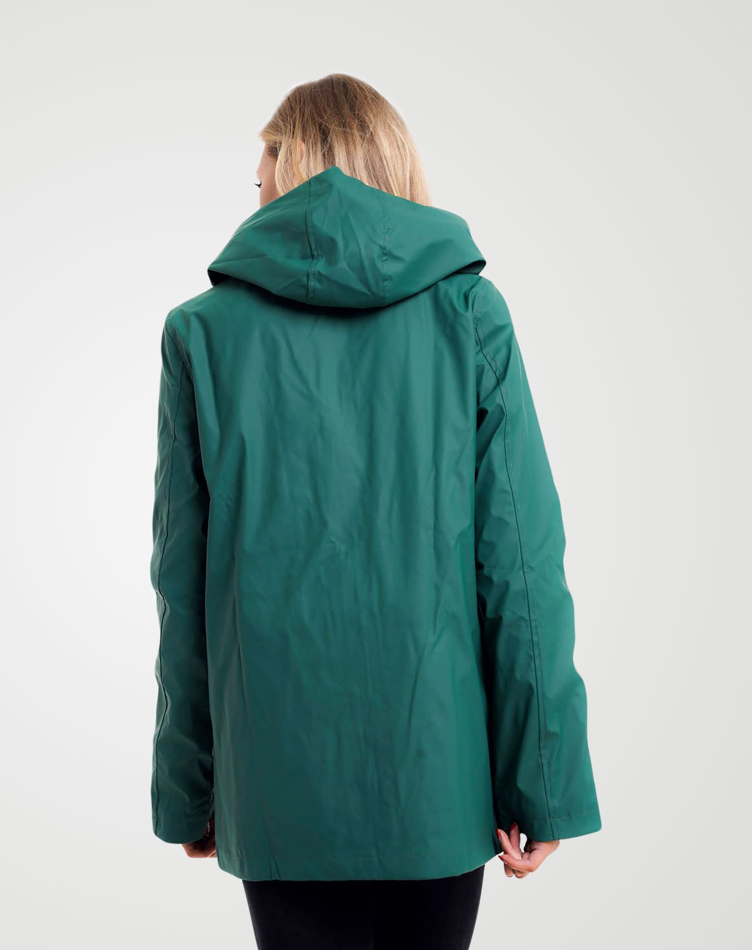 Image 3 of Womens Hooded Raincoat Jacket color Green and sizes 8,10,12,14 from Noroze