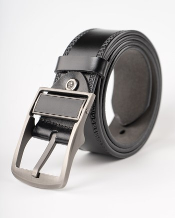 Image 1 of Mens Leather Belt of color black from Noroze