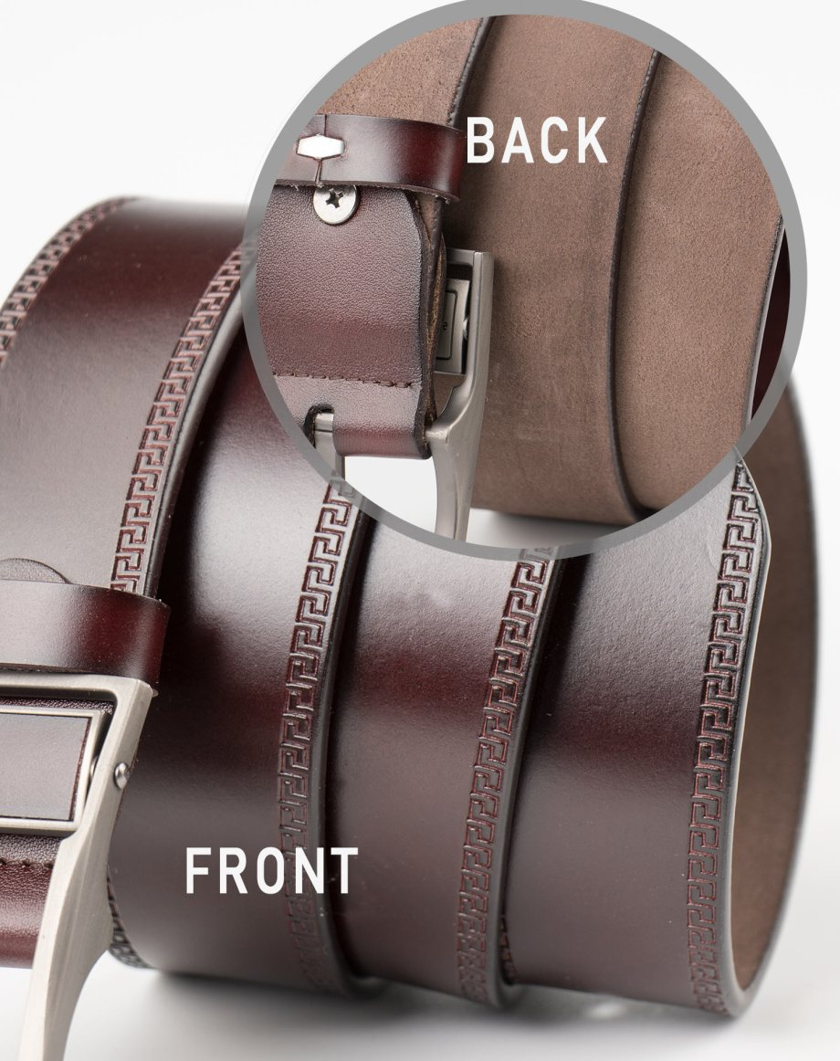 Image 4 of Mens Leather Belt of color Coffee from Noroze