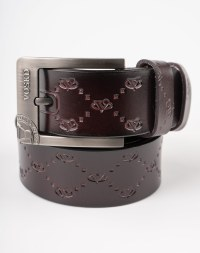 Image 3 of Mens Etched Buckle Leather Belt of color Coffee from Noroze
