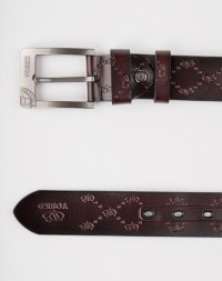 Image 6 of Mens Etched Buckle Leather Belt of color Coffee from Noroze