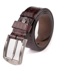 Image 1 of Mens Animal Patterned Leather Belt of color Coffee from Noroze