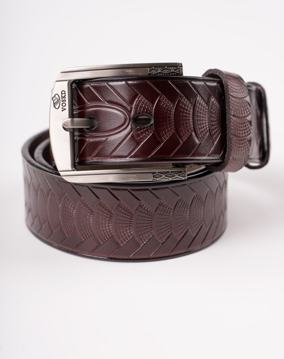 Image 3 of Mens Animal Patterned Leather Belt of color Coffee from Noroze