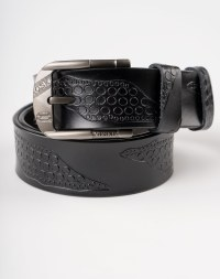 Image 2 of Men Leather Belt of Black color from Noroze