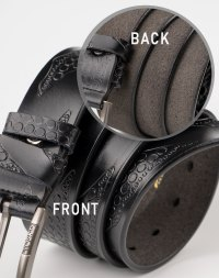 Image 3 of Mens Leather Belt of Black color from Noroze