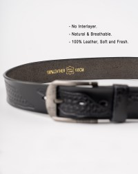 Image 5 of Mens Leather Belt of Black color from Noroze