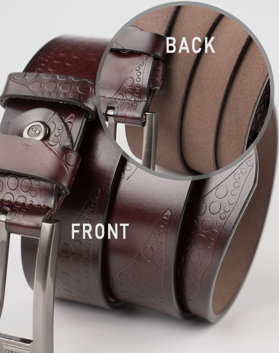 Image 4 of Mens Leather Belts of color Coffee from Noroze Brand