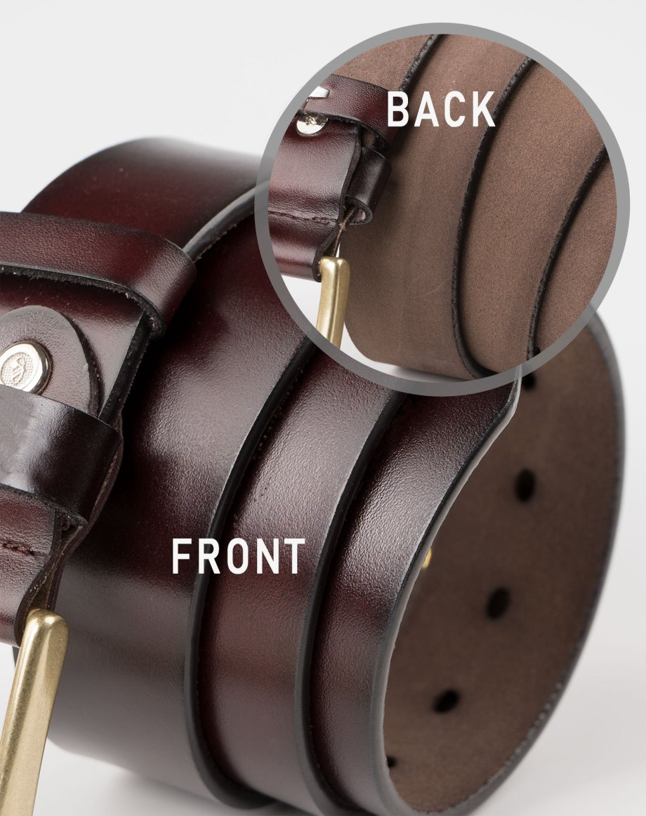 Image 4 of Mens Leather Brown Belt Golden Buckle from Noroze