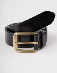 Image 7 of Mens Leather Black Belt Golden Buckle from Noroze