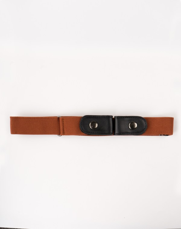 Image 1 of Womens No Buckle Belt of color Brown from Noroze