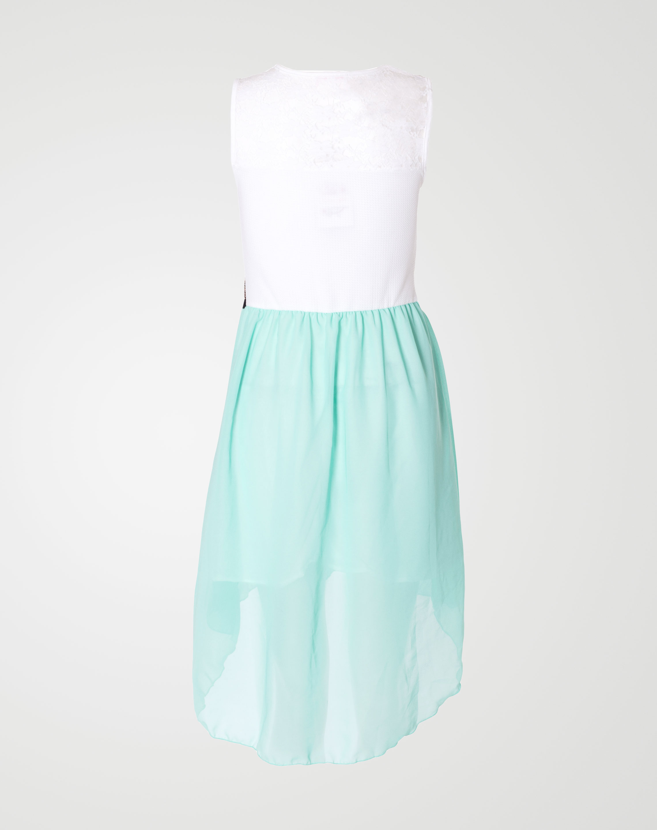 Image 2 of Girls Lace Chiffon Dress color Mint and sizes 7-8, 9-10, 11-12, 13 from Noroze