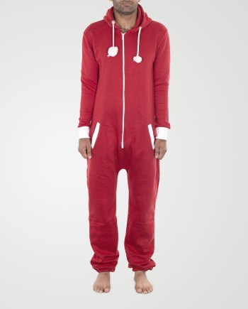 Image 1 of Mens Contrast Color Onesie color Plain Red and sizes S, M, L, XL, 2XL from Noroze