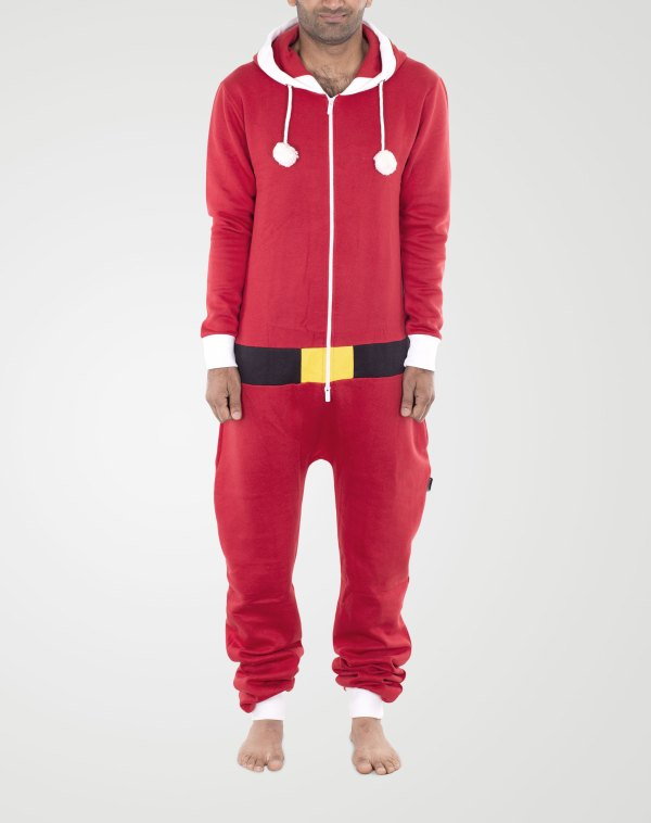 Image 1 of Mens Contrast Color Onesie color Red-Black and sizes S, M. L, XL, 2XL from Noroze