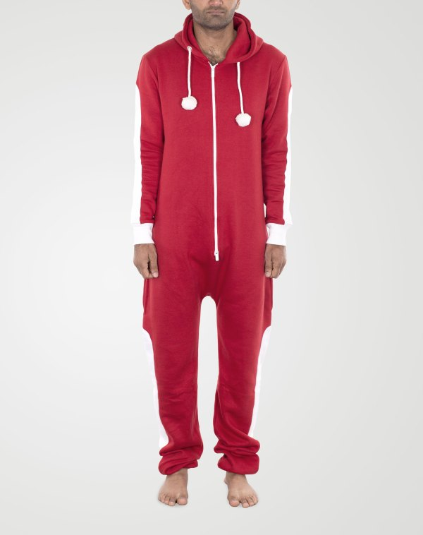 Image 1 of Mens Contrast Color Onesie color Red-White and sizes S, M. L, XL, 2XL from Noroze