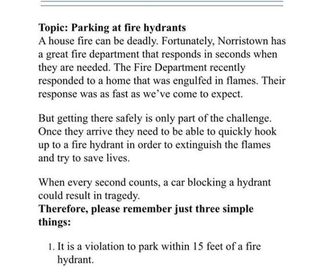 Please Be Mindful When Parking