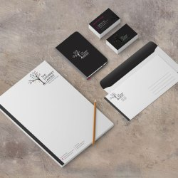 Logo design – corporate stationary – Gourmet Larder, Newcastle NSW