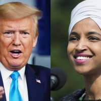 Ilhaan Cumar oo weerarkii ugu cuslaa ku qaaday Trump