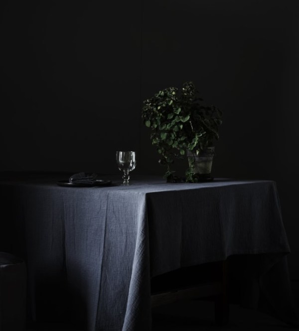 mantel azul oscuro