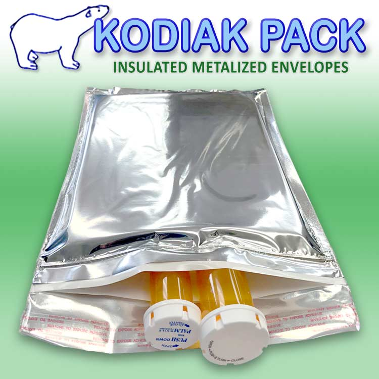 Kodiak Pack Metalized Insulated Envelopes