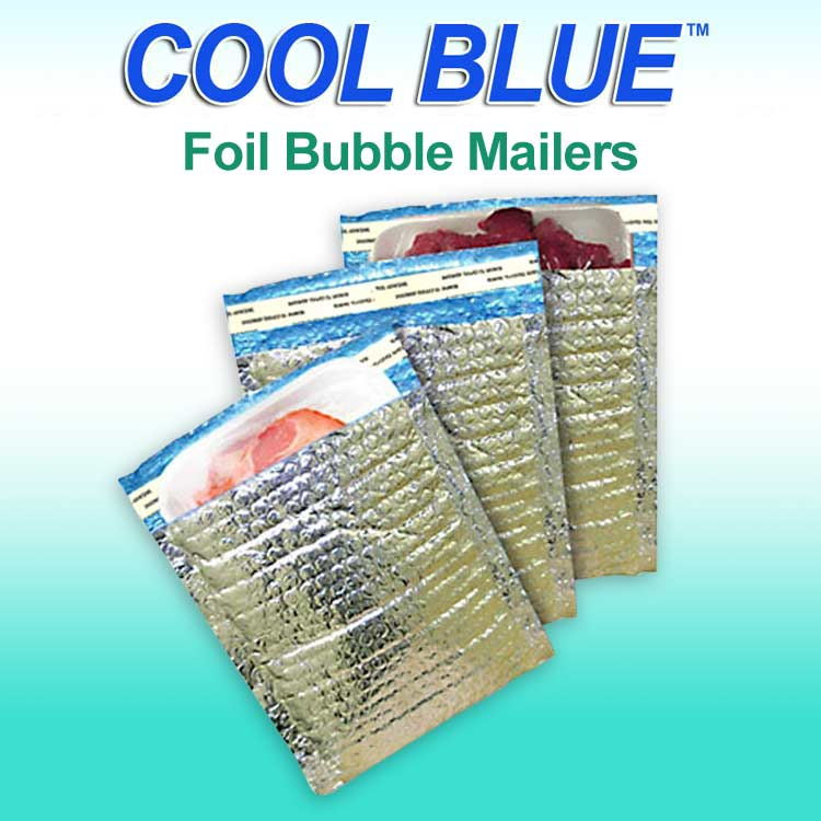 Cool Blue Foil Bubble Mailers