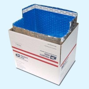 Insulated Box Liners in USPS Priority Box