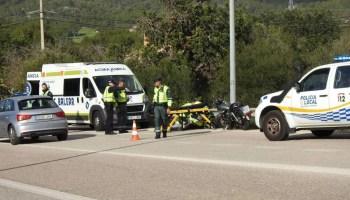 Herido un joven motorista de 27 años cerca de Jarandilla de la Vera