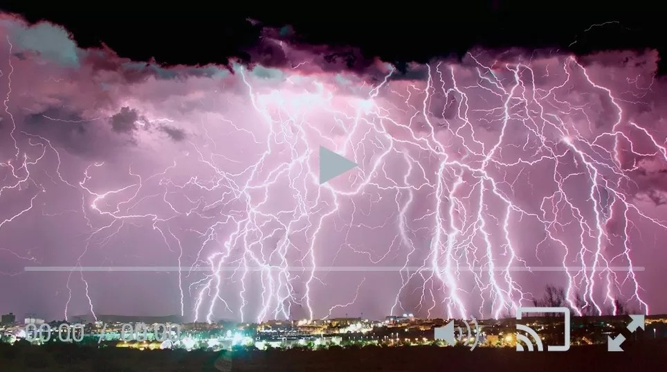 Festival de rayos en Extremadura