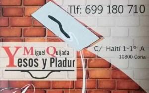 Yesos y Pladur Miguel Quijada