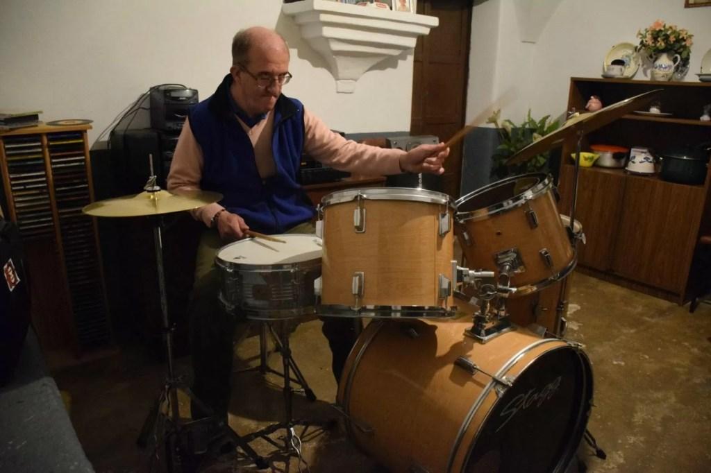 Antonio, el 'crack' de la batería de Conquista