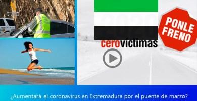¿Aumentarán covid por el puente de marzo en Extremadura?