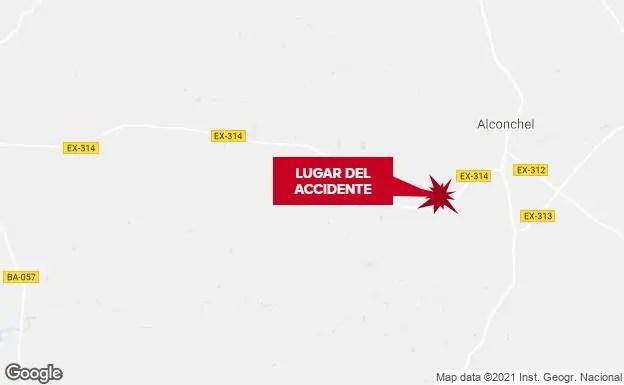 Un hombre muere en Alconchel al quedar atrapado por un vehículo que arreglaba
