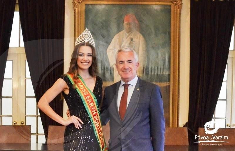 Telma Madeira: Miss recebida na Câmara poveira