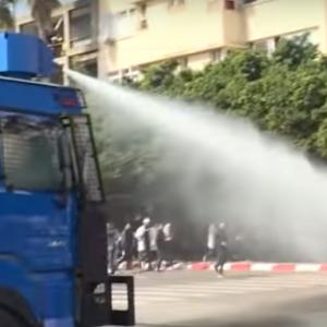 Morocco: Police repress teachers' demonstration in Rabat