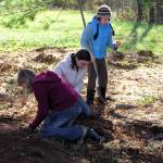 The senior class goes on an archaeological dig