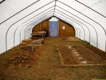 The newly covered greenhouse!