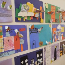 Primary's Super Hero art
