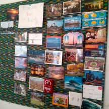 The Juniors received many postcards from all over during spring break