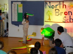The Juniors perform a Spanish play