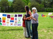 Robyn, the organizer, with Charlotte