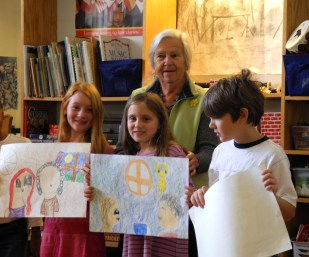 Primary Two sharing favorite things to do with grandparents