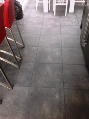 Textured Porcelain Tile with Charcoal Grey Grout in Kendal53