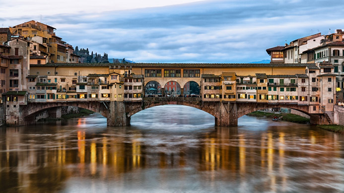 достопримечательности Золотой старый мост во Флоренции