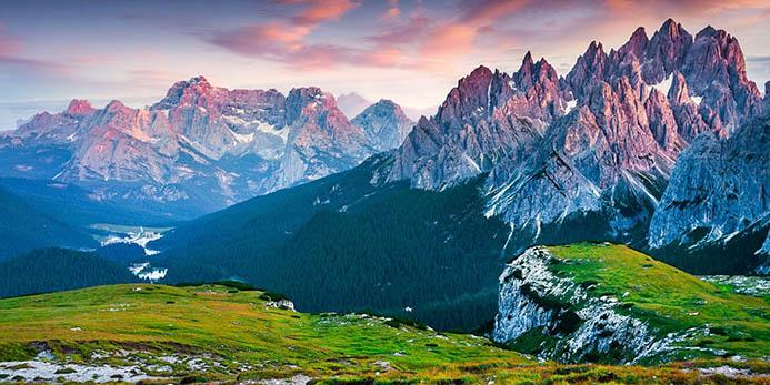 восхождение в горы в Италии