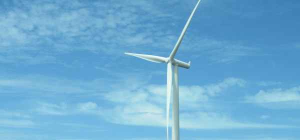 close up photo of white windmill
