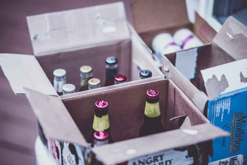 bottles inside boxes